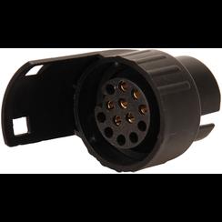 Adapter voor aanhangerstekker 12 V  7-polig naar 13-polig