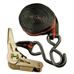Ratchet Tie Down Strap  with 2 solid Hooks  5 m x 24 mm