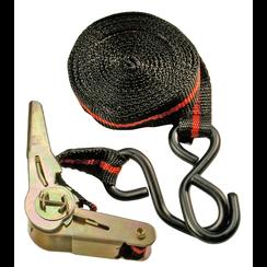 Ratel spanband  met 2 zware haken  5 m x 24 mm