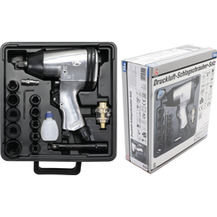 """Air Impact Wrench with Tool Set  12.5 mm (1/2"""")  312 Nm  16 pcs."""