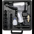 "Kraftmann Air Impact Wrench with Tool Set  12.5 mm (1/2"")  312 Nm  16 pcs."