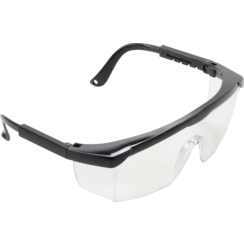 Safety Glasses with Adjustable Temples  transparent