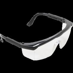 Veiligheidsbril met verstelbare veren  transparant