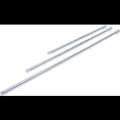 """Verlengstukset  12,5 mm (1/2"""")  450 / 600 / 750 mm  3-dlg"""