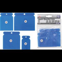 Japan Scraper Set  Plastic  50 / 80 / 100 / 120 mm  4 pcs.