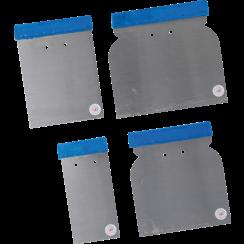 Japan Scraper Set  Spring Steel  50 / 80 / 100 / 120 mm  4 pcs.