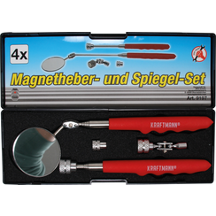 Magneethulp en inspectiespiegelset  4-dlg
