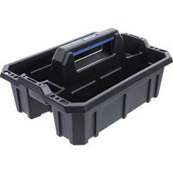 Draagbak met draagbeugel zwart plastic BGS 70220