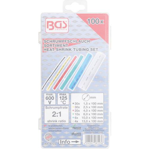 BGS  Technic Assortiment krimpkous  gekleurd  100-dlg