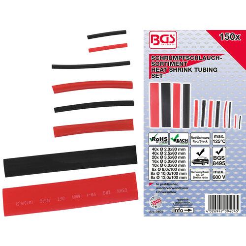 BGS  Technic Assortiment krimpkous  rood / Zwart  150-dlg