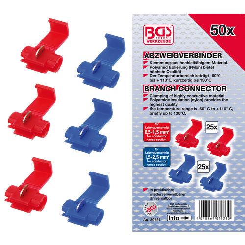 BGS  Technic Assortiment kabelsplitsers  50-dlg