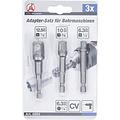 """BGS - D-I-Y Adapterset voor boormachines  6,3 mm (1/4"""")  6,3 mm (1/4"""") / 10 mm (3/8"""") / 12,5 mm (1/2"""")  3-dlg"""