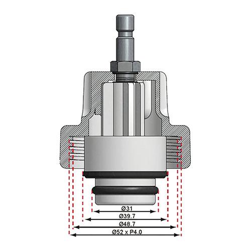 BGS  Technic Adapter nr. 10 voor BGS 8027, 8098  voor BMW