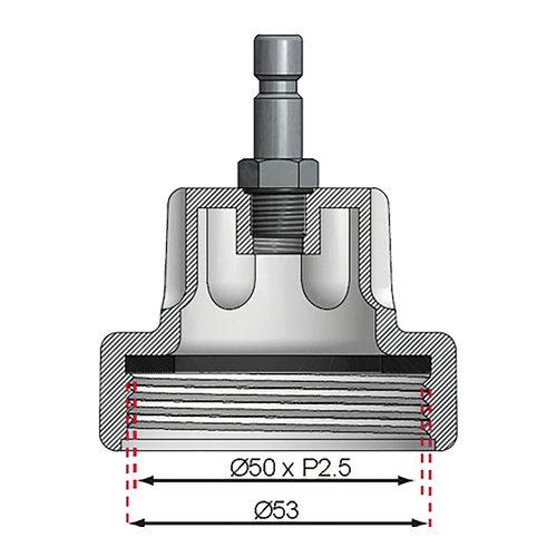 BGS  Technic Adapter nr. 6 voor BGS 8027, 8098  voor Daewoo, Ford, Jaguar, Jeep, Land Rover, Mercedes-Benz, Pontiac, Porsche, Saab