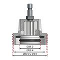 BGS  Technic Adapter nr. 9 voor BGS 8027, 8098  voor Audi, BMW, Porsche, VW