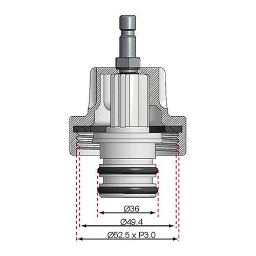 BGS  Technic Adapter 21 voor BGS 8027, 8098  voor Fiat, Opel, Saab