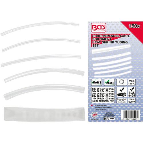 BGS  Technic Assortiment krimpkous  transparant  150-dlg