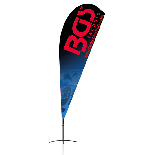 BGS  Technic BGS® Beachflag  Design 2  422 x 90 cm