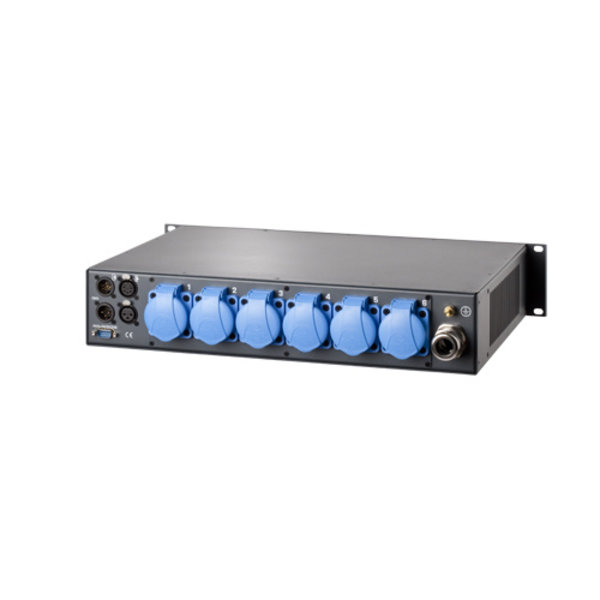 Output connector 6xFrench Schuko dimmerbar 6-kanaals