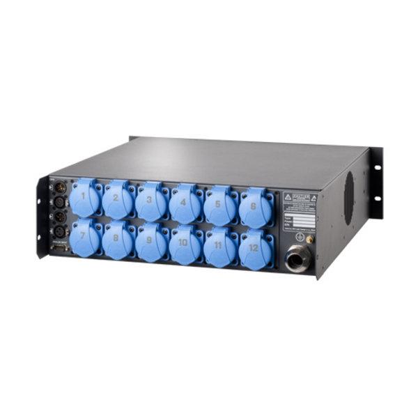 Output connector 12x Schuko