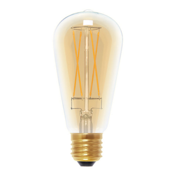 LED- lamp Vintage Rustica Long Style Golden   E27   6 W (35 W)   400 Lm   2.000 K   50295  