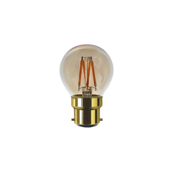 Segula* LED Golfbal Goud 24 V DC | B22 | 3 W (20 W) | 200 Lm | 2.000 K | 50834 |