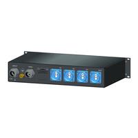 SRS Power* Rackmontage stroomverdeler 32A | 32A kabel | 4x Schuko | 4x RCBO