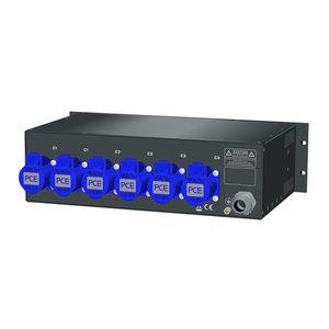 SRS Power* Rackmontage stroomverdeler 16A | 6x 16A 3p | Main MCB | 1x RCD | 3U