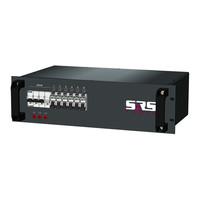 SRS Power* Rackmontage stroomverdeler 32A | 6x Schuko |  Main MCB | 6x RCBO | 3U