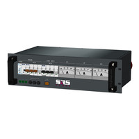 SRS Power* Rackmontage stroomverdeler 63A | 3x 32A 5p | Main MCB | 1x MCB | 2x RCBO | Analoge meter | 3U