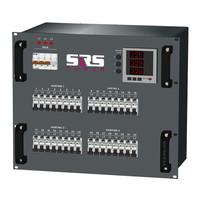SRS Power* Rackmontage stroomverdeler 63A   4x Harting 16p   32x Schuko   Main MCB   32x RCBO   Digitale meter   9U