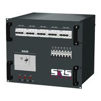 SRS Power* Rackmontage stroomverdeler 400A | 1x 400A Camlok| 5x 32A | 5x 16A 3p | 2x powerCON | Main MCB | 9U