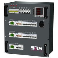 SRS Power* Rackmontage stroomverdeler 125A | 1x 32A | 2x  Harting 16p | 2x  Harting 6p | 14x Schuko | Main | RCBO | 12U