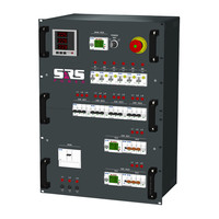 SRS Power* Rackmontage stroomverdeler 125A | 2x 63A | 4x 32A | 12x Schuko | Main | Noodstop | 15U