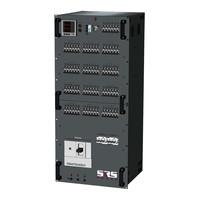 SRS Power* Rackmontage stroomverdeler 400A   1x 400A   1x 32A   12x Socapex   3x Schuko   3x powerCON True1   Main   RCBO aardlekautomaat   Digitale meter   24U