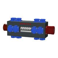 SRS Power* Portable stroomverdeler 32A 5p | 1x 32A | 12x Schuko | 6x MCB