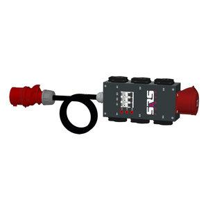 SRS Power* Portable stroomverdeler 32A 5p | 1x 32A | 6x Schuko | 3x RCBO