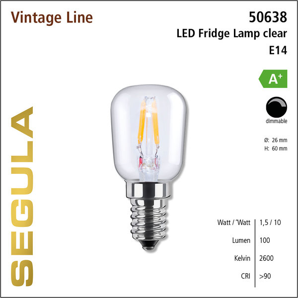 LED- lamp Vintage Fridge lamp Helder    E14   1,5 W (10 W)   100 Lm   2.600 K   50638  