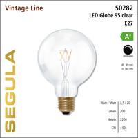 Segula* LED- lamp Vintage Globe 95 Helder | E27 | 3,5 W (20 W) | 200 Lm | 2.200 K | 50282 |