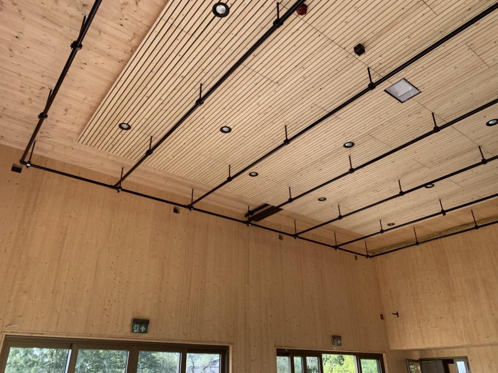Plafond Herpt met grid