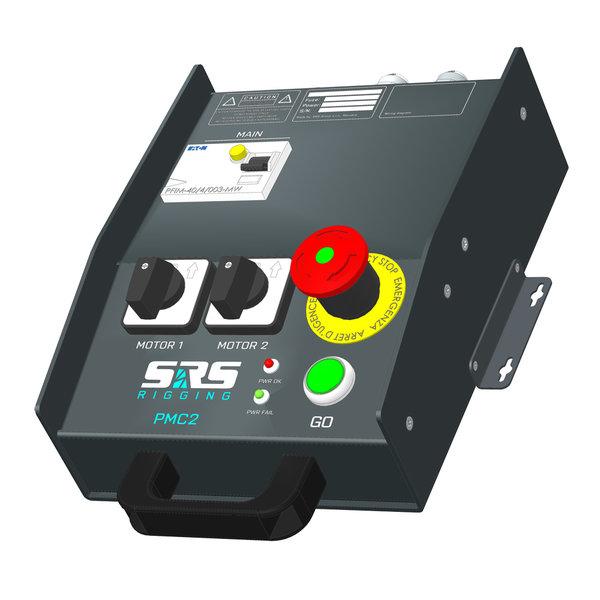 SRS Rigging* Takelsturing 2-kanaals LV wandbox