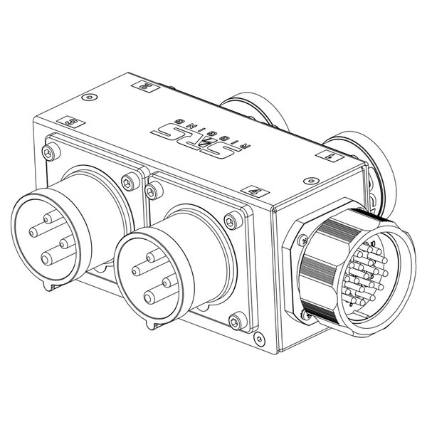 SRS Rigging* 2-kanaals MC Hoist splitbox - LV