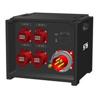 SRS Power* IP54 stroomverdeler 63A   2x 32A 5p   2x 16A 5p   Main MCB   4x RCBO   SVE3