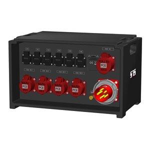 SRS Power* IP54 stroomverdeler 63A | 1x 32A 5p | 4x 16A 5p | 6x Schuko | Main MCB | 11x MCB | SVE4