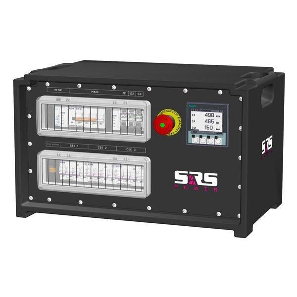 SRS Power* IP54 stroomverdeler 63A | 1x 63A | 3x 32A 5p | 6x Schuko | Main MCB | 6x RCBO | SVE4
