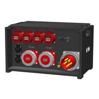 SRS Power* IP54 stroomverdeler 125A | 2x 63A 5p | 3x 32A 5p | 2x Schuko | Main MCB | 2x RCD | 6x RCBO | SVE4