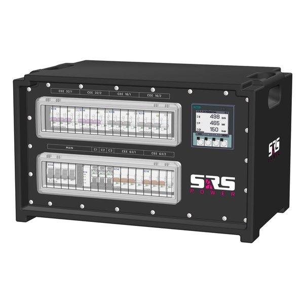 SRS Power* IP54 stroomverdeler 125A | 2x 63A 5p | 2x 32A 5p | 2X 16A 5p | 2x 16A 3p | Main MCB | 2x MCB | 7x RCBO | SVE4