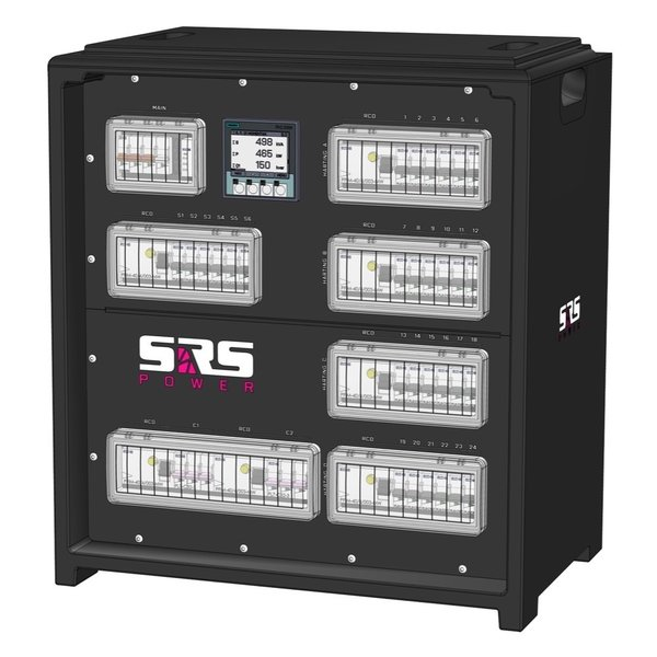 SRS Power* IP54 stroomverdeler 63A | 2x 32A 5p | 4x Harting 16p | Main MCB | 32x MCB | SVE5
