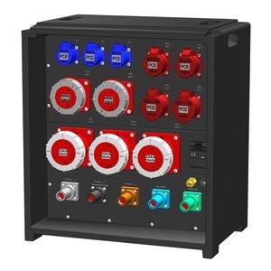 SRS Power* IP54 stroomverdeler 400A | 3x 125A 5p | 2x 63A 5p | 2x 32A 5p |2x 16A 5p | 3x 16A 3p | 3x MCB | 2x MCB + RCD | 7x RCBO | SVE5