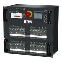 SRS Power* HYMAG stroomverdeler 63A | 4x Harting 16p | 24x Schuko | Noodstop | LED A-meter | Digitale P-meter | Main MCB | 24x HRCBO | 10U - Copy